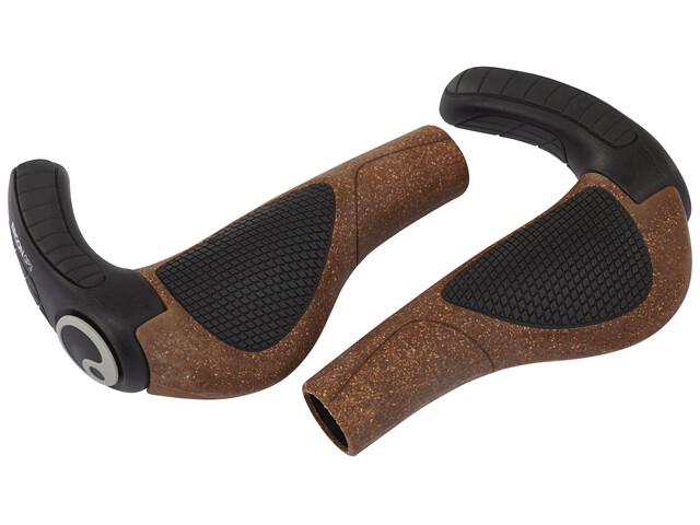 Ergon GP3 BioKork Cykelhåndtag brun/sort
